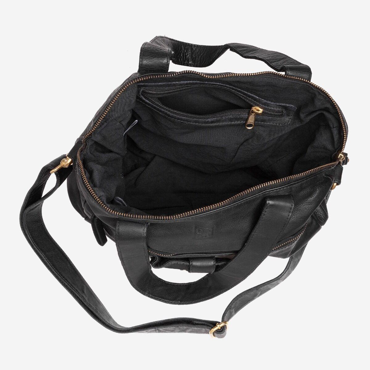 Grand sac bandoulière vintage en cuir avec clous