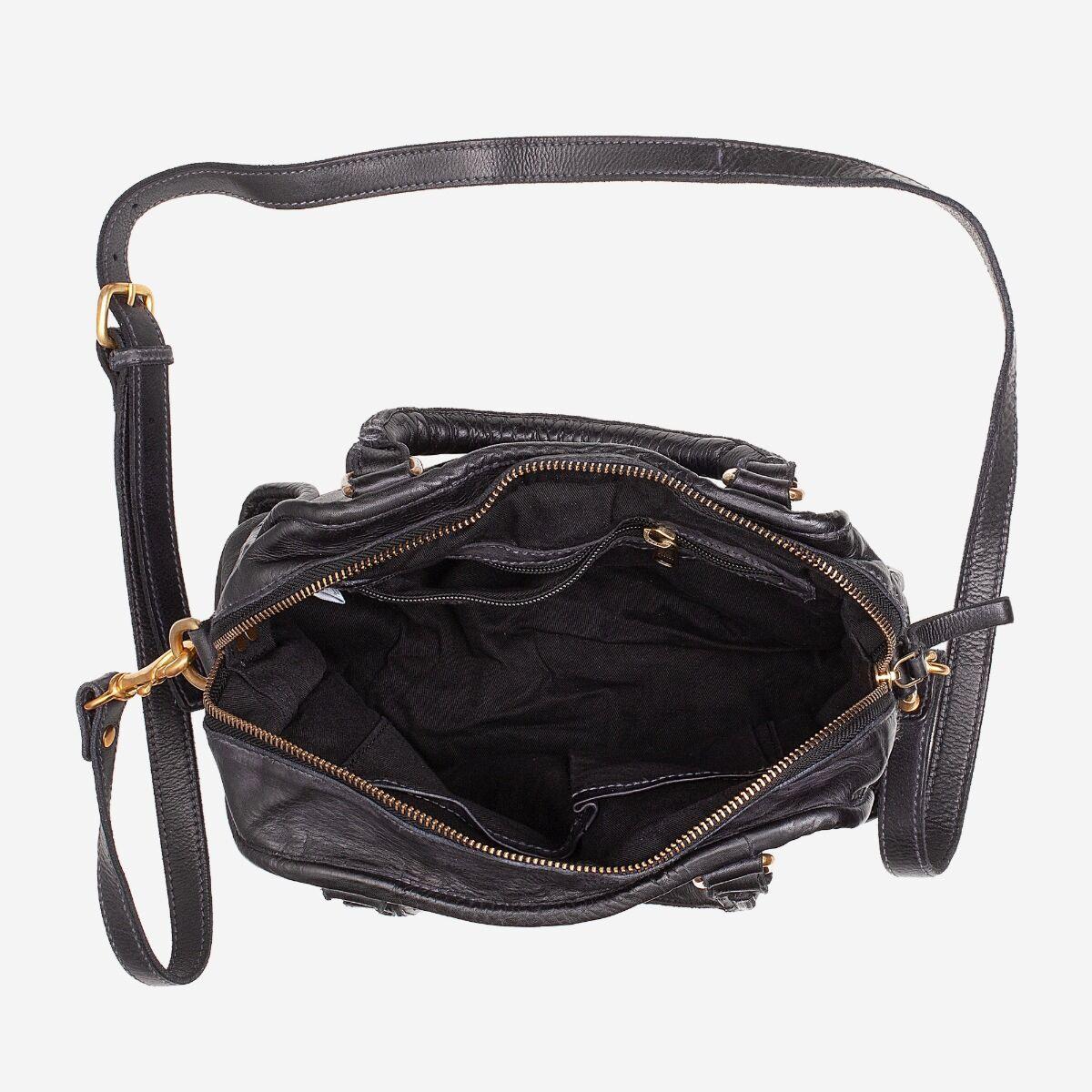 Handtasche Leder Vintage gewebt