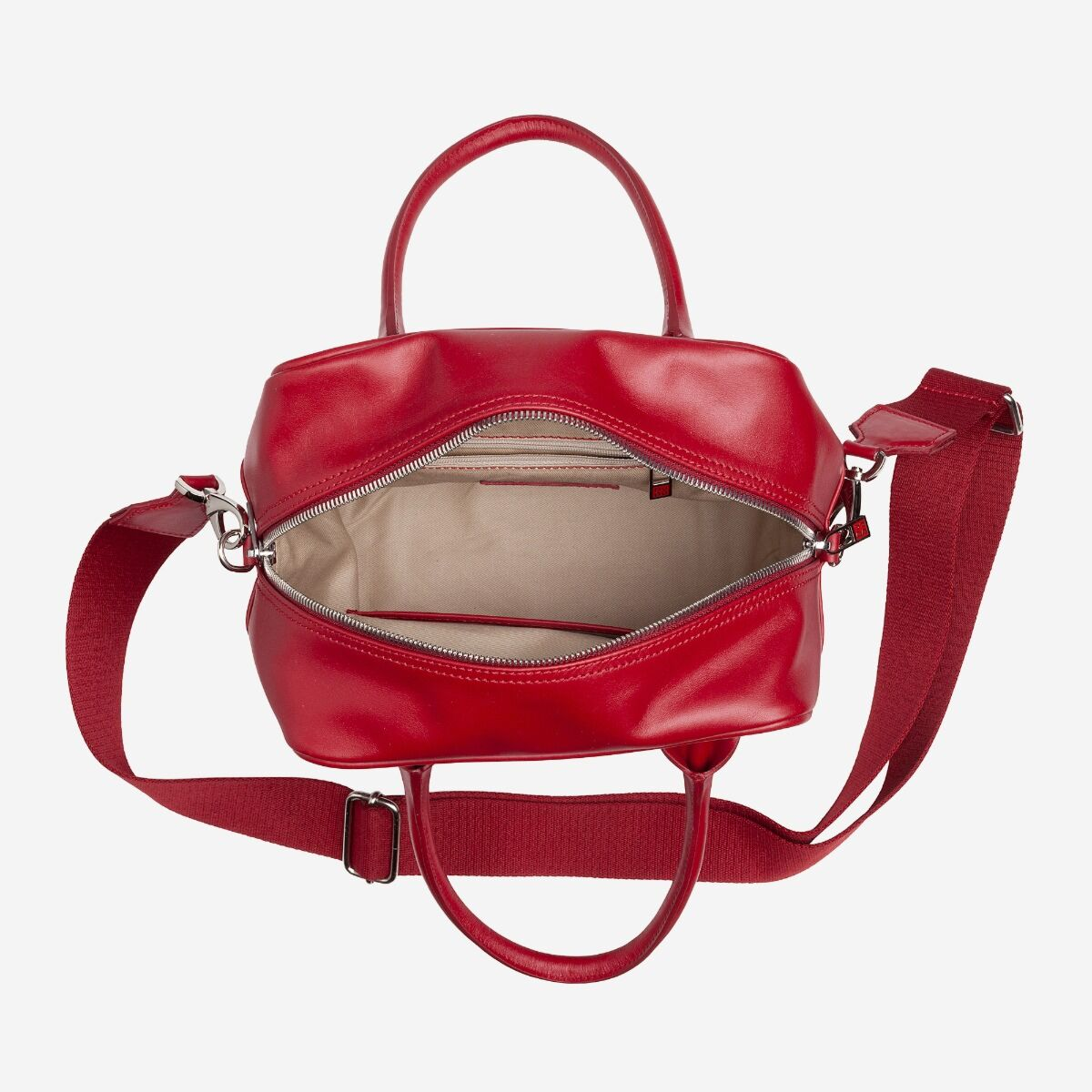 borsa bauletto donna con tracolla in pelle