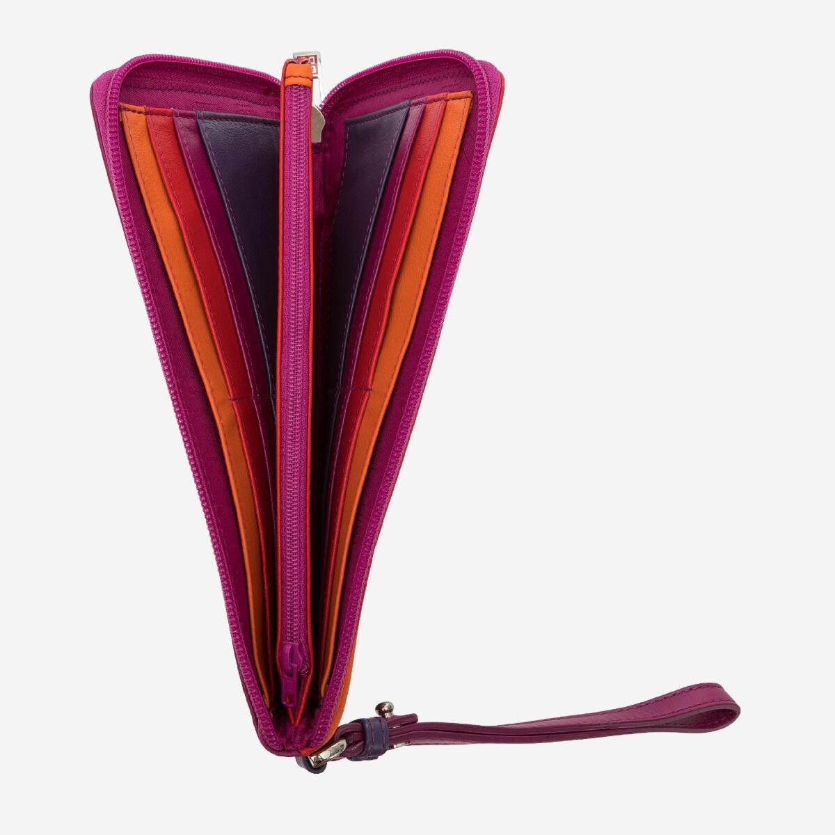 Portafoglio borsello colorato donna pelle