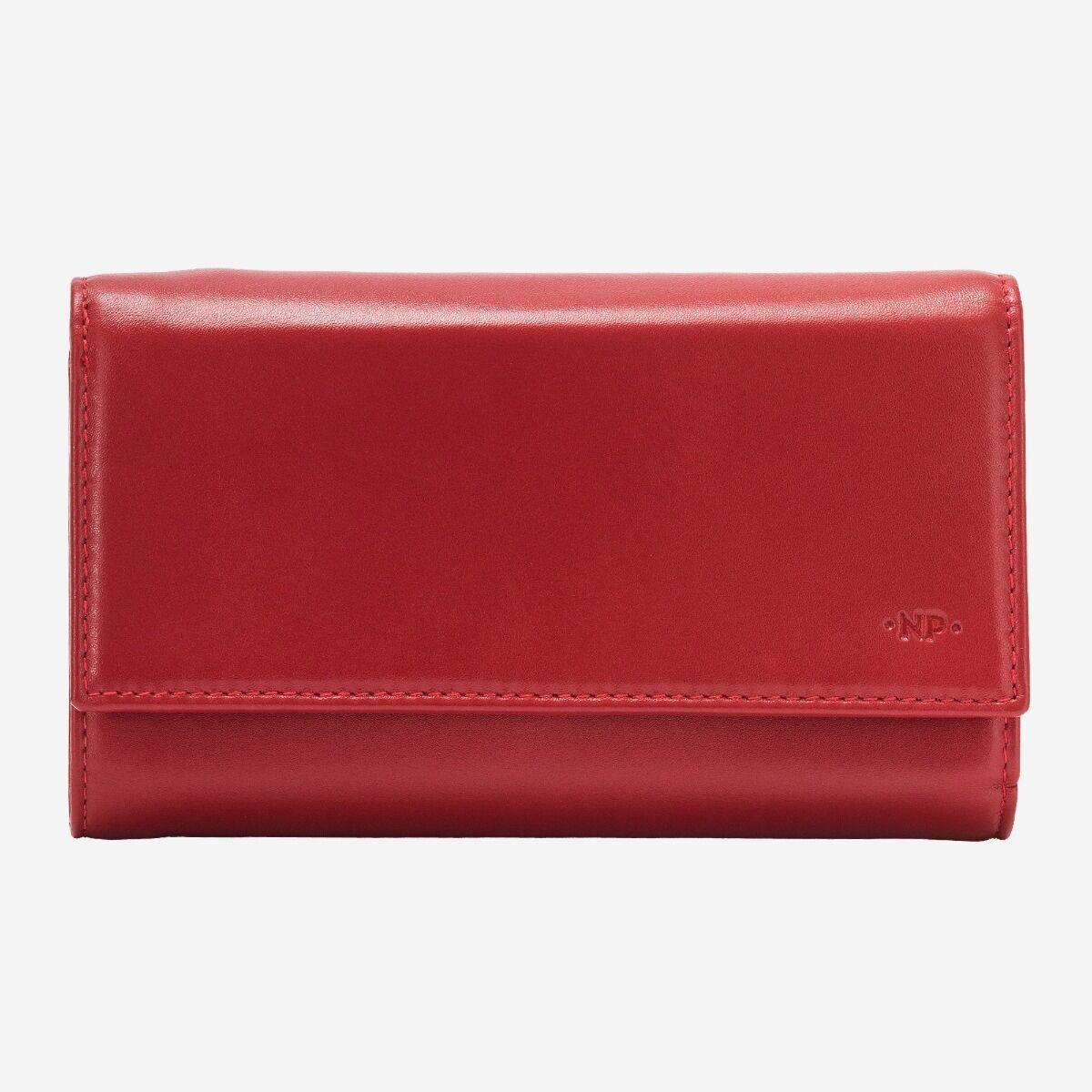 Damen Portemonnaie geräumig aus Leder