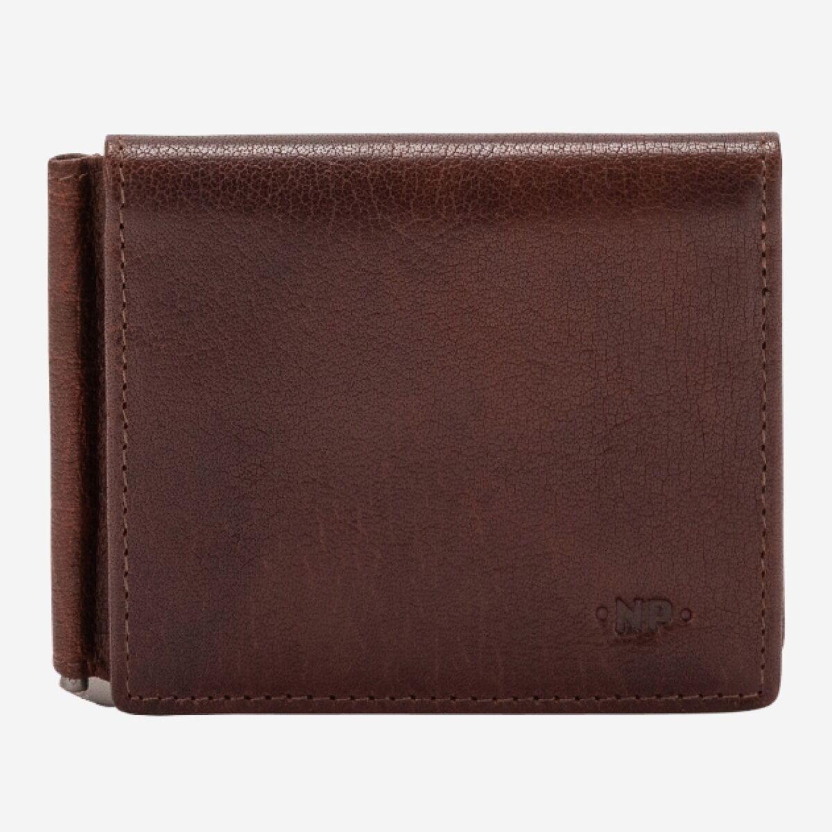 Portefeuille homme avec pince à billet et porte-monnaie