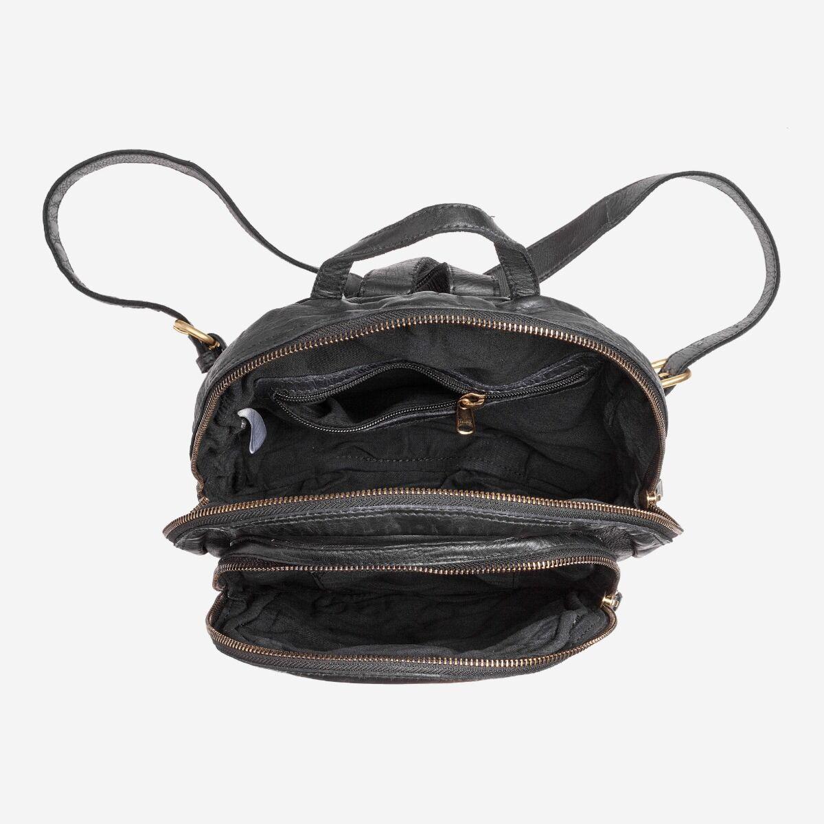 Rucksack geflochtenes Vintage-Leder