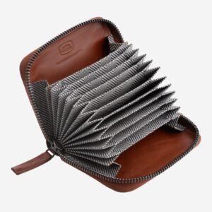 porta carte di credito con cerniera