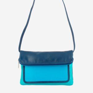 borsa pelle multicolor con cerniera