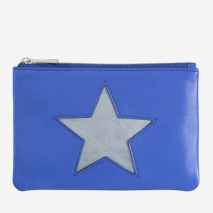 Small makeup leather clutch bag