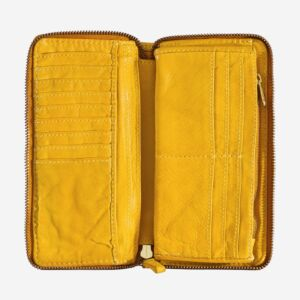 580-1334 Timeless - Wallet - Saffron Yellow