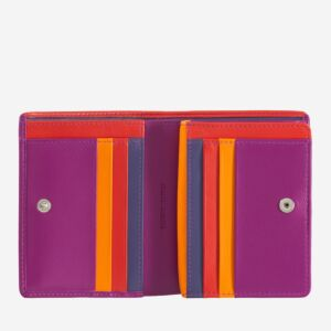 women's small leather rfid bifold wallet