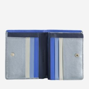 RFID women's small leather bifold wallet