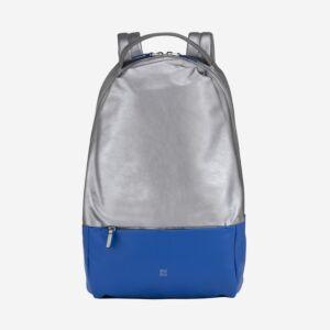 full grain leather metallic backpack